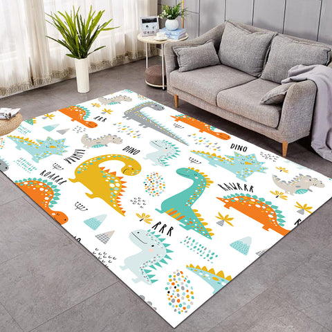 Image of Cartooned DinoThemed SW0872 Rug