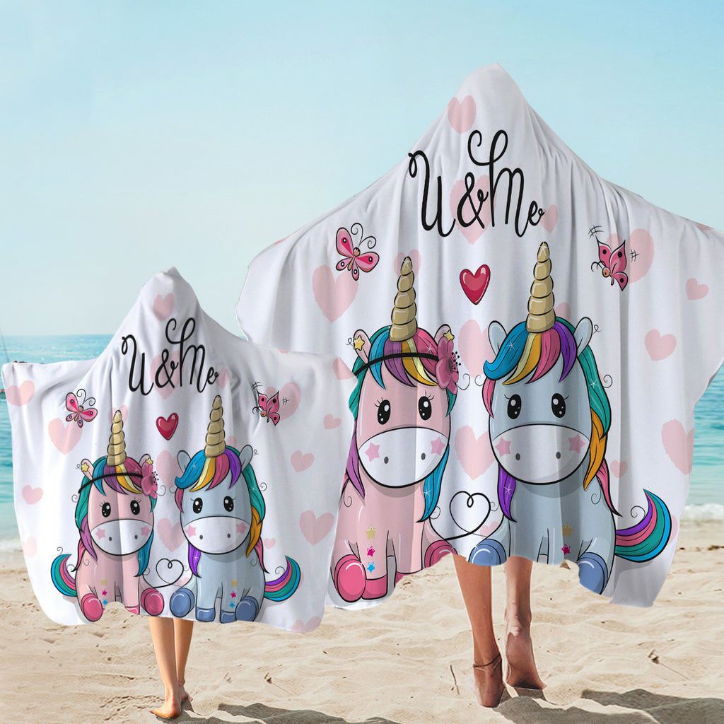U & Me Love Hooded Towel