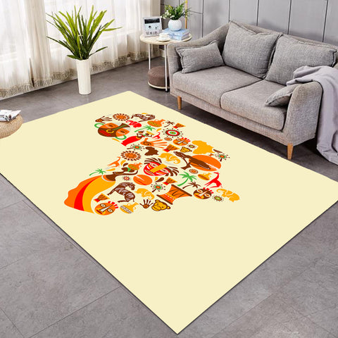 Africa Continent Tan SW0826 Rug