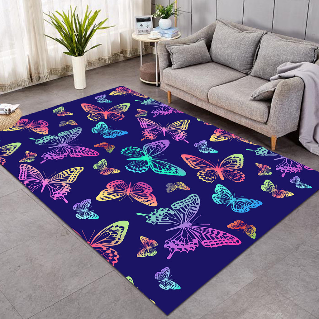 Colorful Butterflies Night SW0312 Rug