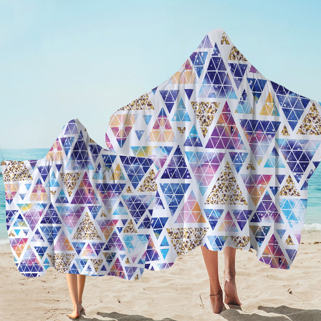 Pyramid Puzzle Hooded Towel