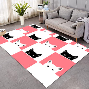 Kitty White & Pink SW1653 Rug