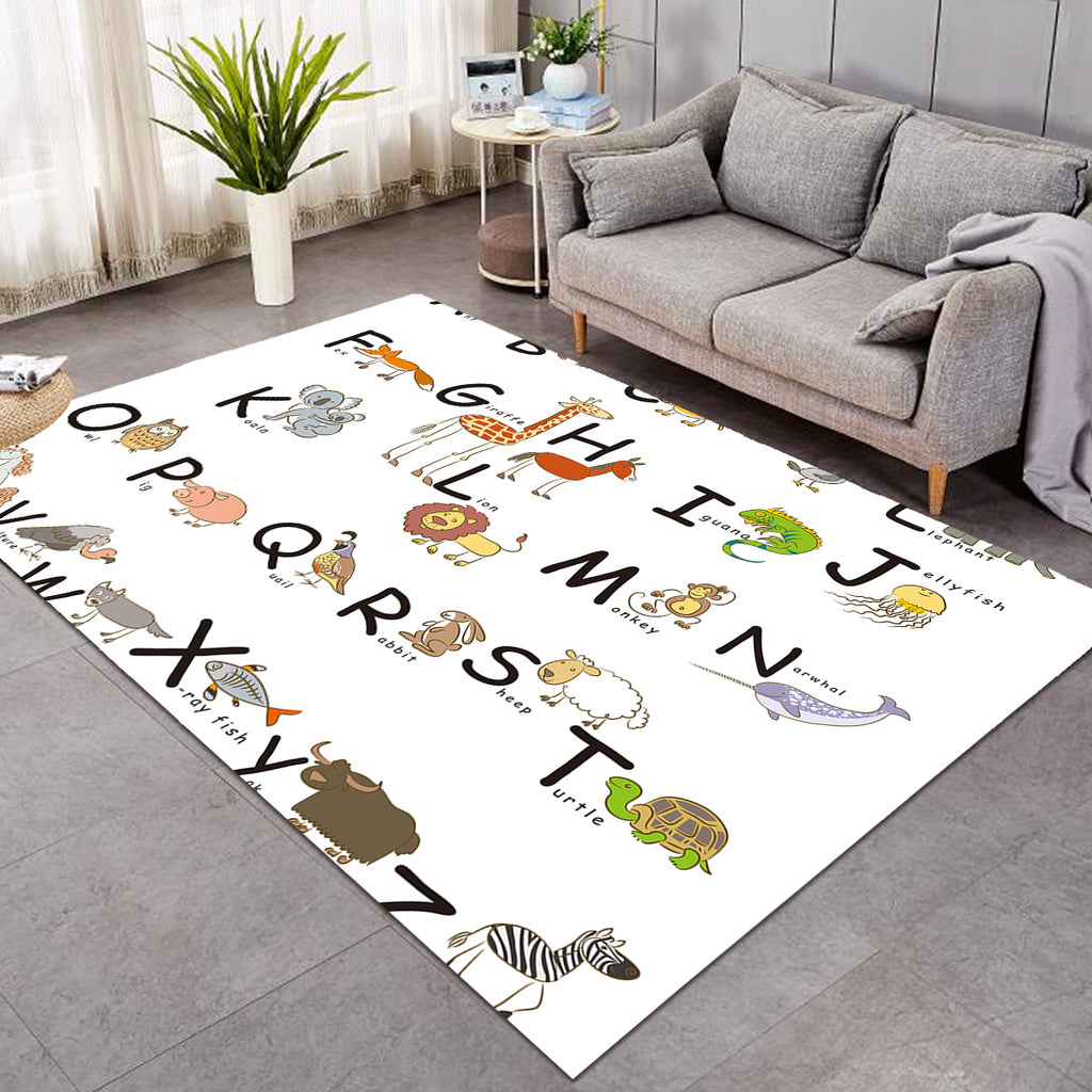 Kid Animal Alphabet SW0498 Rug