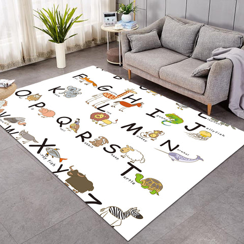 Image of Kid Animal Alphabet SW0498 Rug