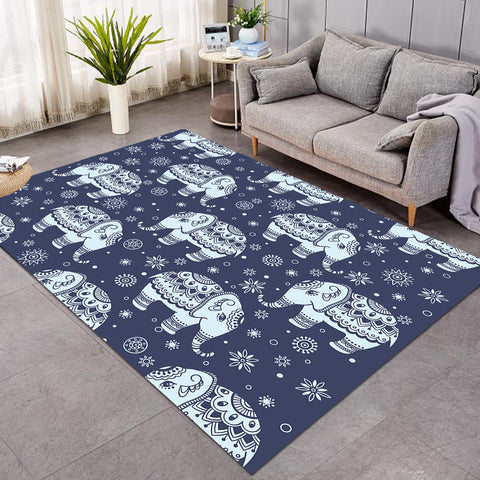 Image of Ritual Elephant Patterns SW0297 Rug