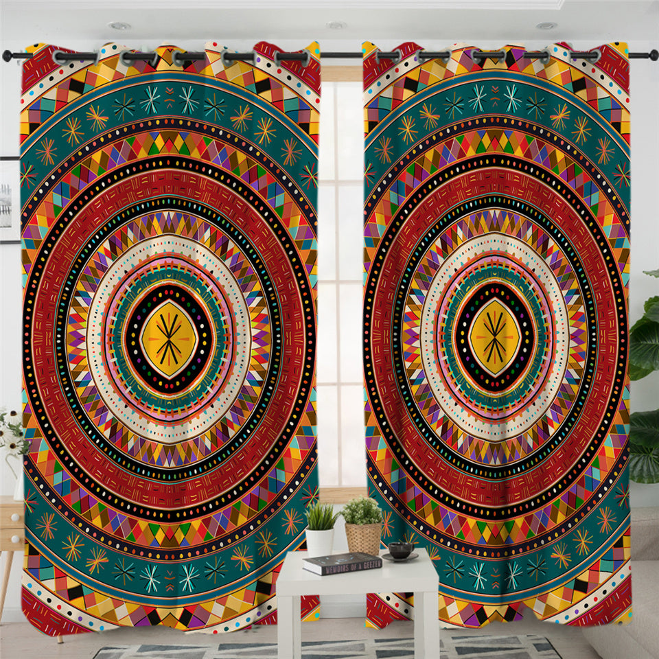 Concentric Patterns 2 Panel Curtains