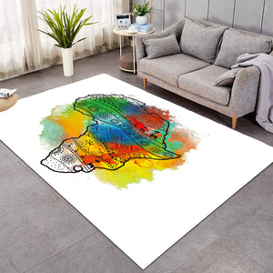 Africa Continent Colorboom SW0832 Rug