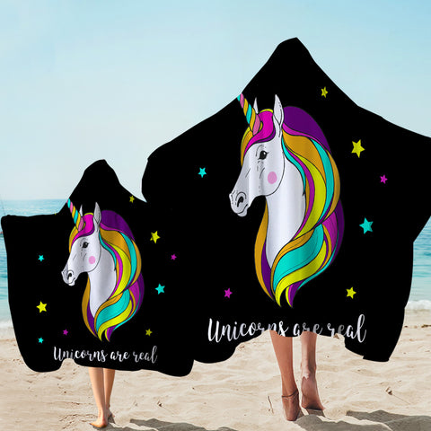 Image of Rare Unicorn Starry Hooded Towel
