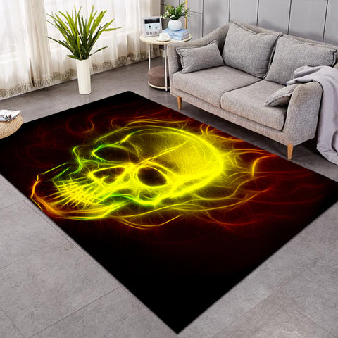 Image of Fiery Skull SW1676 Rug