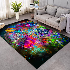 Colors & Butterflies Chaotic SW1646 Rug