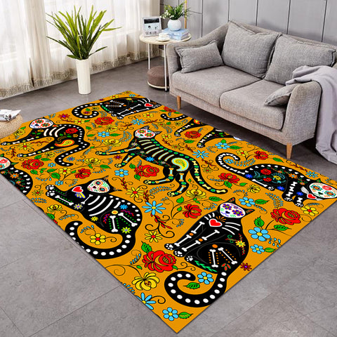 X-rayed Cats Yellow SW0657 Rug