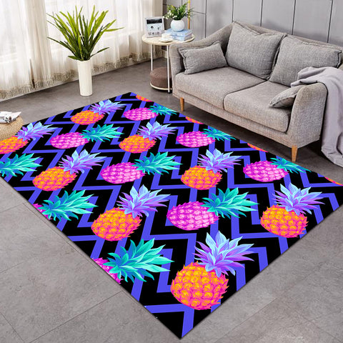 Image of Negative Color Pineapples Ziczag SW0668 Rug