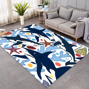 Corals & Sharks Door Pink SW0094 Rug
