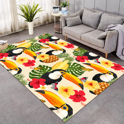 Image of Tropical Toucan Patterns SW0303 Rug