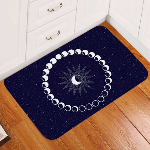 Image of Moon Phases Space Door Mat
