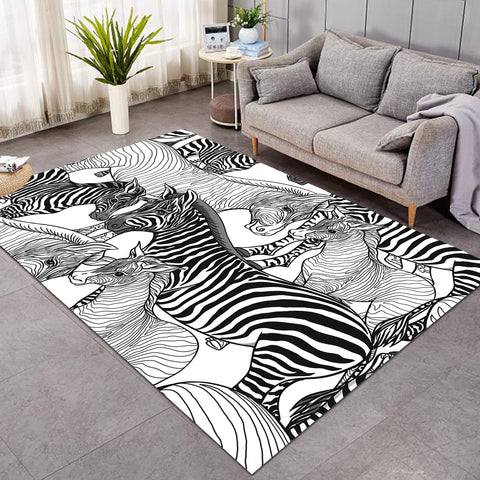 Image of Zebra Sketch SW1660 Rug