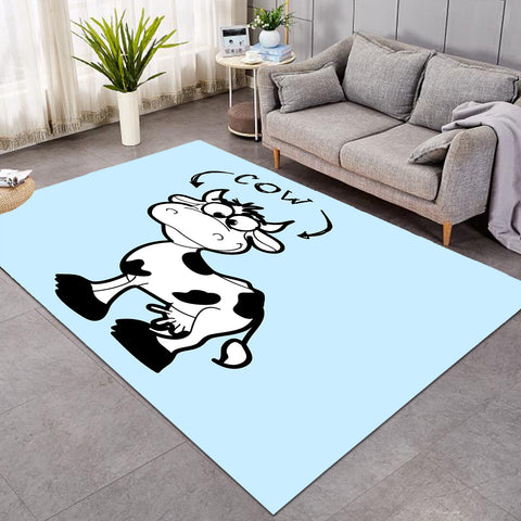 Image of Cartoon Cow Icy SW0742 Rug