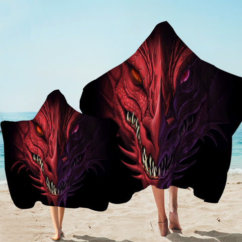 Image of Demonic Dragon Black SWLS0463 Hooded Towel