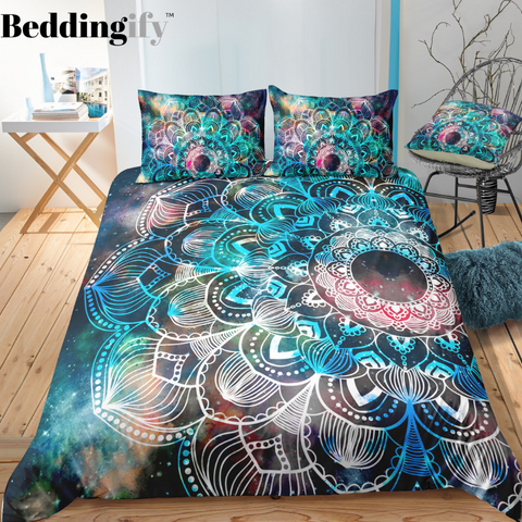 Image of Green Tie Dye Mandala Bedding Set - Beddingify