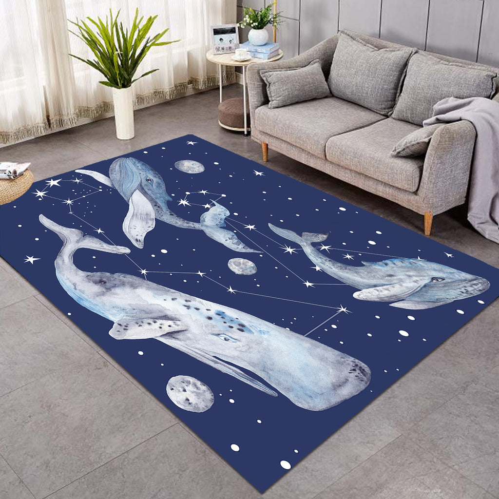 Space Whales Constellation SW0082 Rug