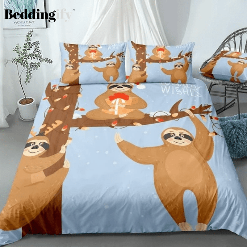 Christmas Sloths Bedding Set - Beddingify