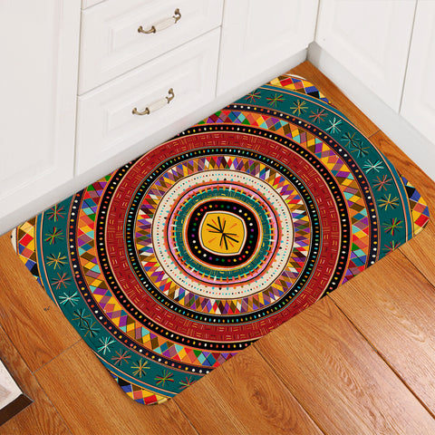 Image of Decorated Rings Door Mat