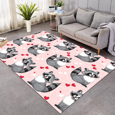 Image of Lovely Racoon Pink SW1674 Rug