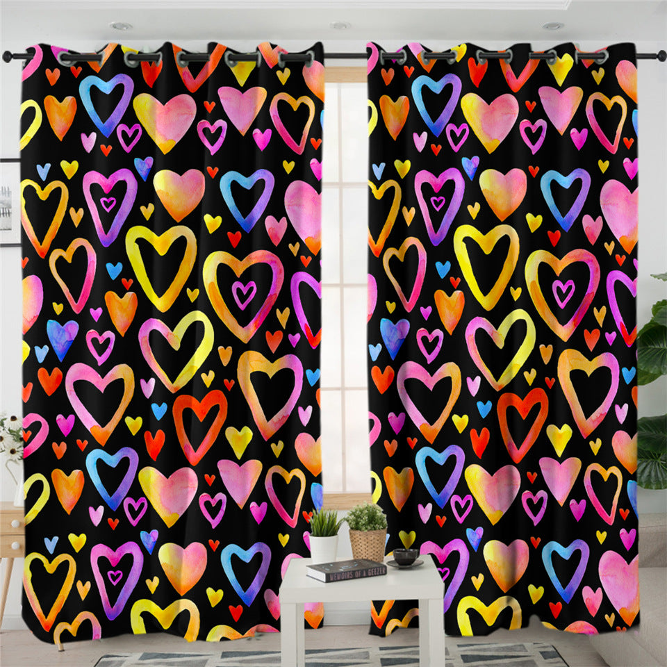 Hearts & Hearts 2 Panel Curtains