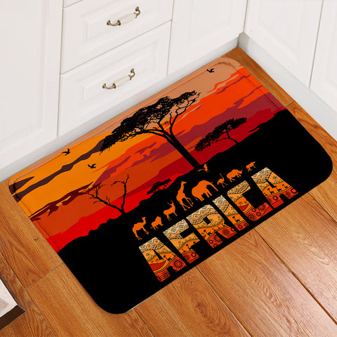Image of Africa Savannah Sunset Door Mat