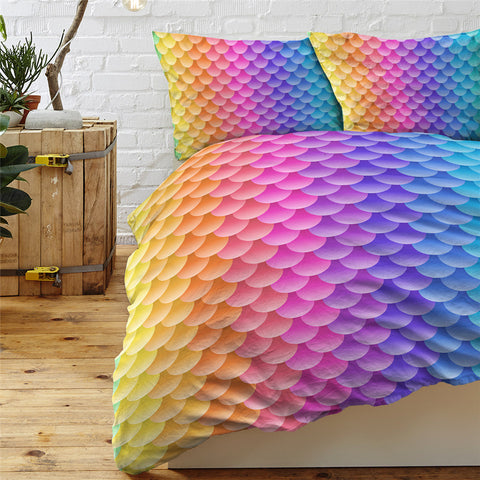 Image of Translucent Fish Scales Bedding Set - Beddingify