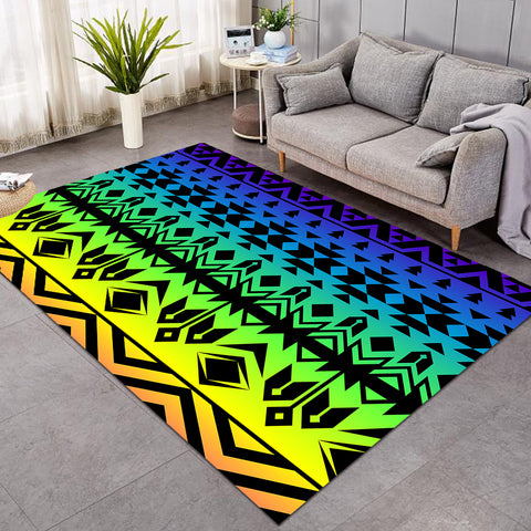Image of Line Decoration Colorful SW0489 Rug