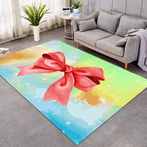 Image of Red Bow Tie SW0487 Rug