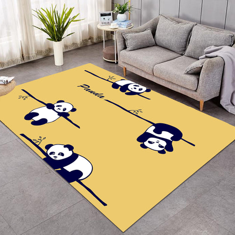 Dangling Pandas Yellow SW1664 Rug