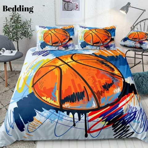 Watercolor Basketball Bedding Set - Beddingify
