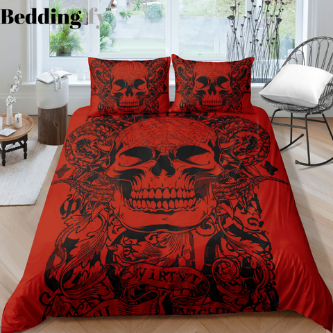 A2 Skull Bedding Set