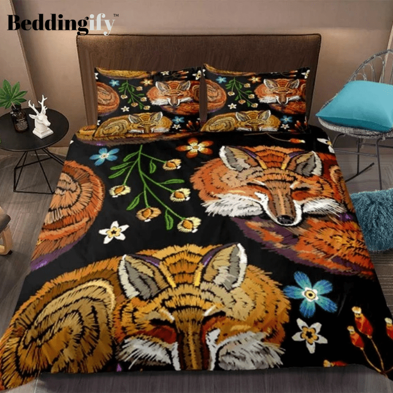 Retro Fox Bedding Set - Beddingify