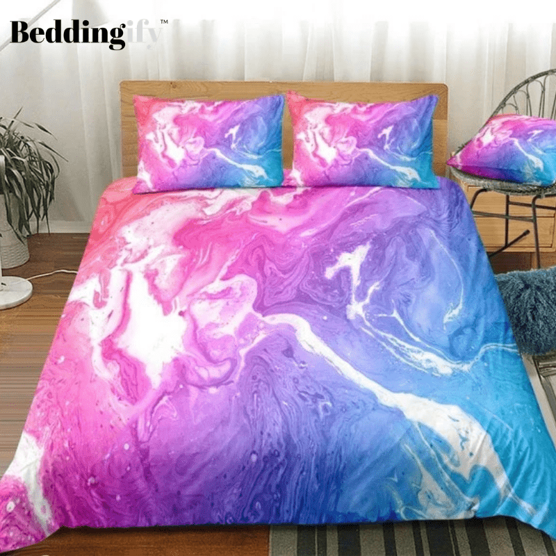 Colorful Quicksand Marble Bedding Set - Beddingify