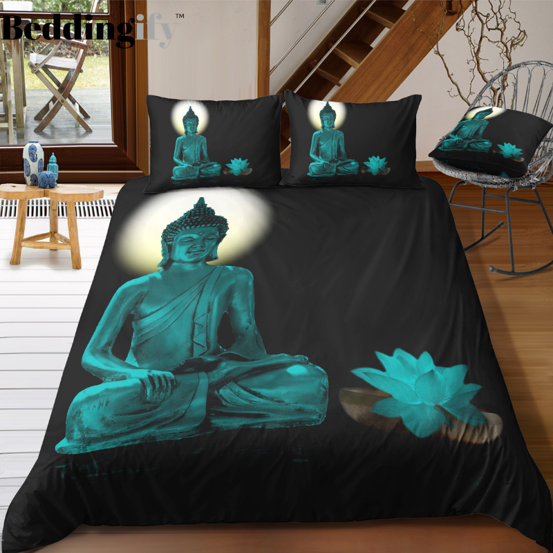 Buddha Sculpture Bedding Set - Beddingify