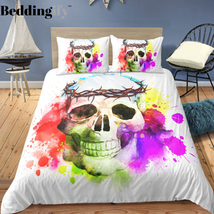 I3 Skull Bedding Set - Beddingify