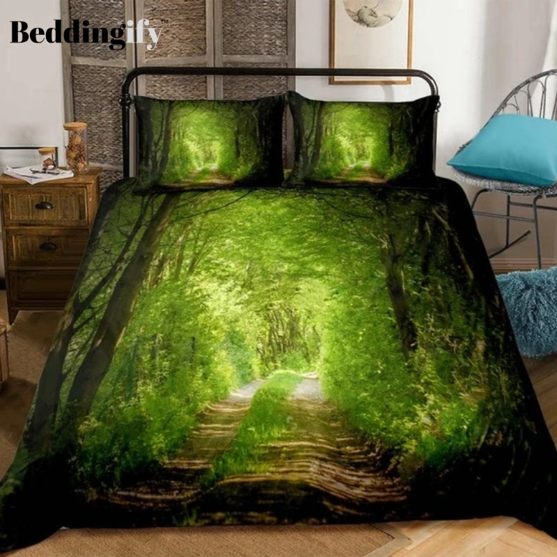 3D Forest Dreamland Print Bedding Set - Beddingify