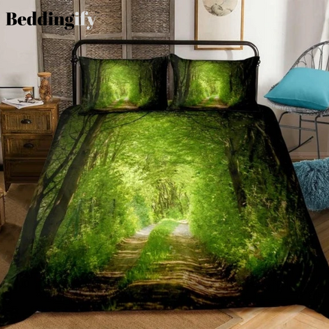 Image of 3D Forest Dreamland Print Bedding Set - Beddingify