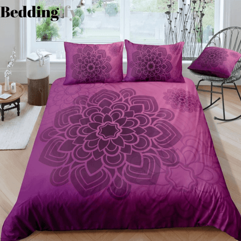 Purple Mandala Pattern Bedding Set - Beddingify