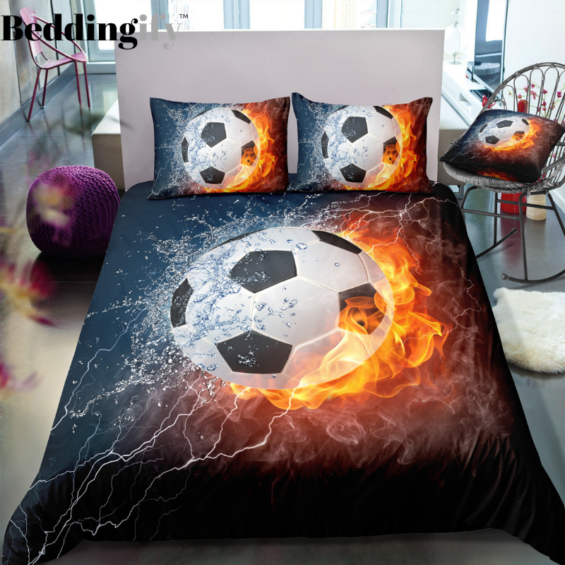 Flame Football Bedding Set - Beddingify