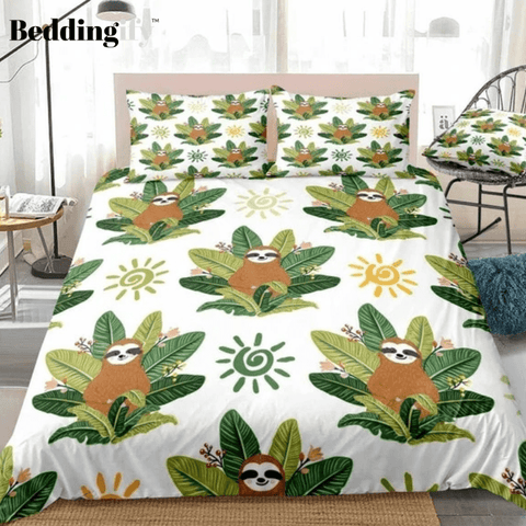 Cute Baby Sloths Bedding Set