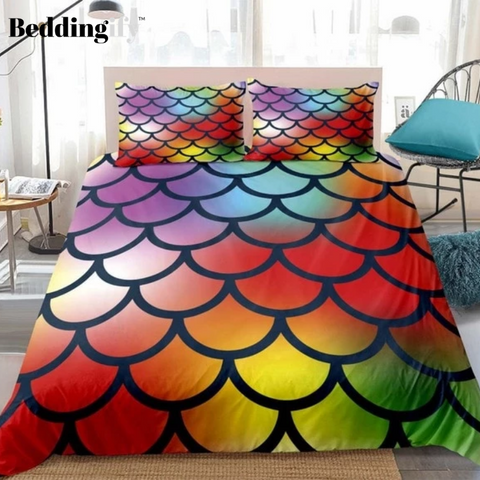Image of Mermaid Scale Bedding Set - Beddingify