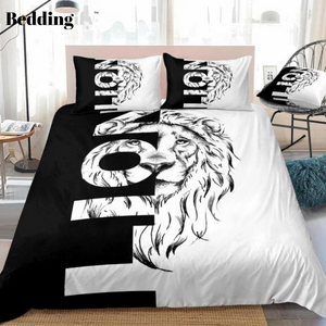 Cool Lion and Letters Bedding Set - Beddingify