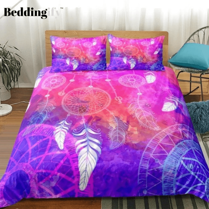 Colorful Dreamcatcher Tie Dye Bedding Set - Beddingify