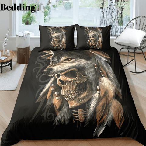 J6 Skull Bedding Set - Beddingify