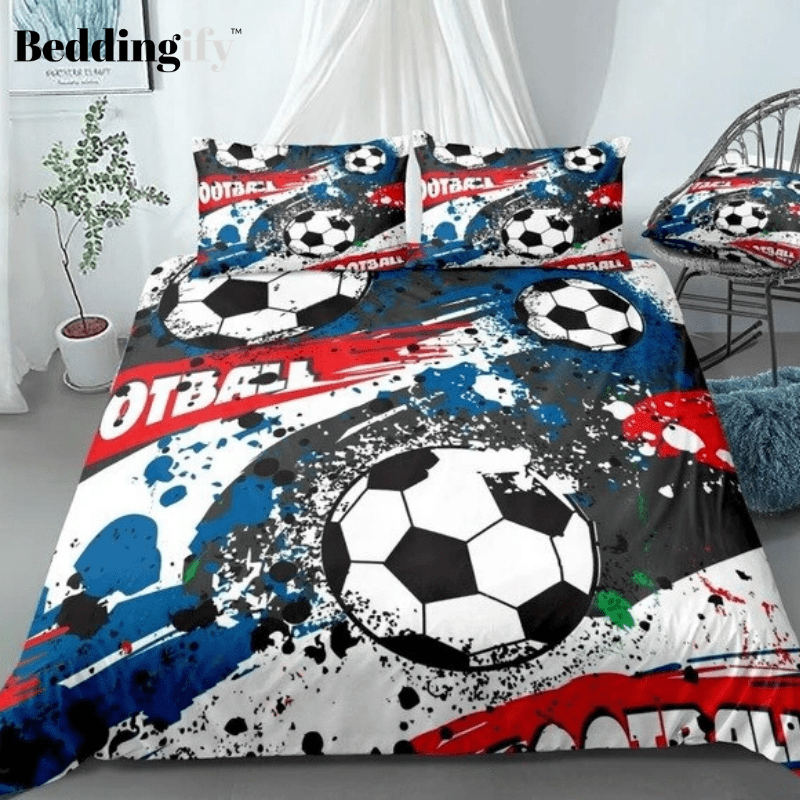 Football Abstract Sports Bedding Set - Beddingify