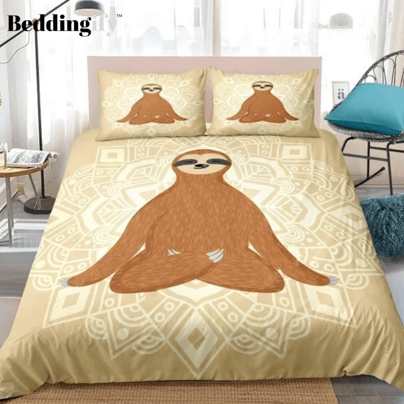 Mandala Sloth Bedding Set - Beddingify